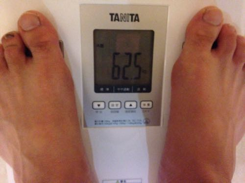 12月300kmラン&体重60kg切りプロジェクト4日目