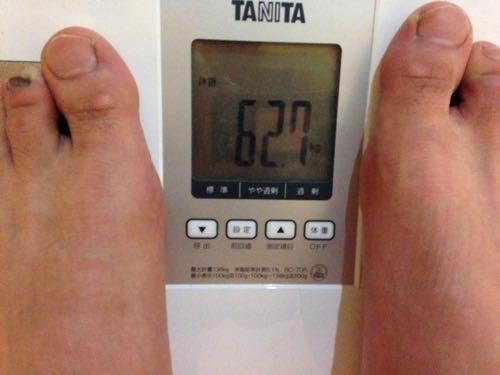 12月300kmラン&体重60kg切りプロジェクト5日目