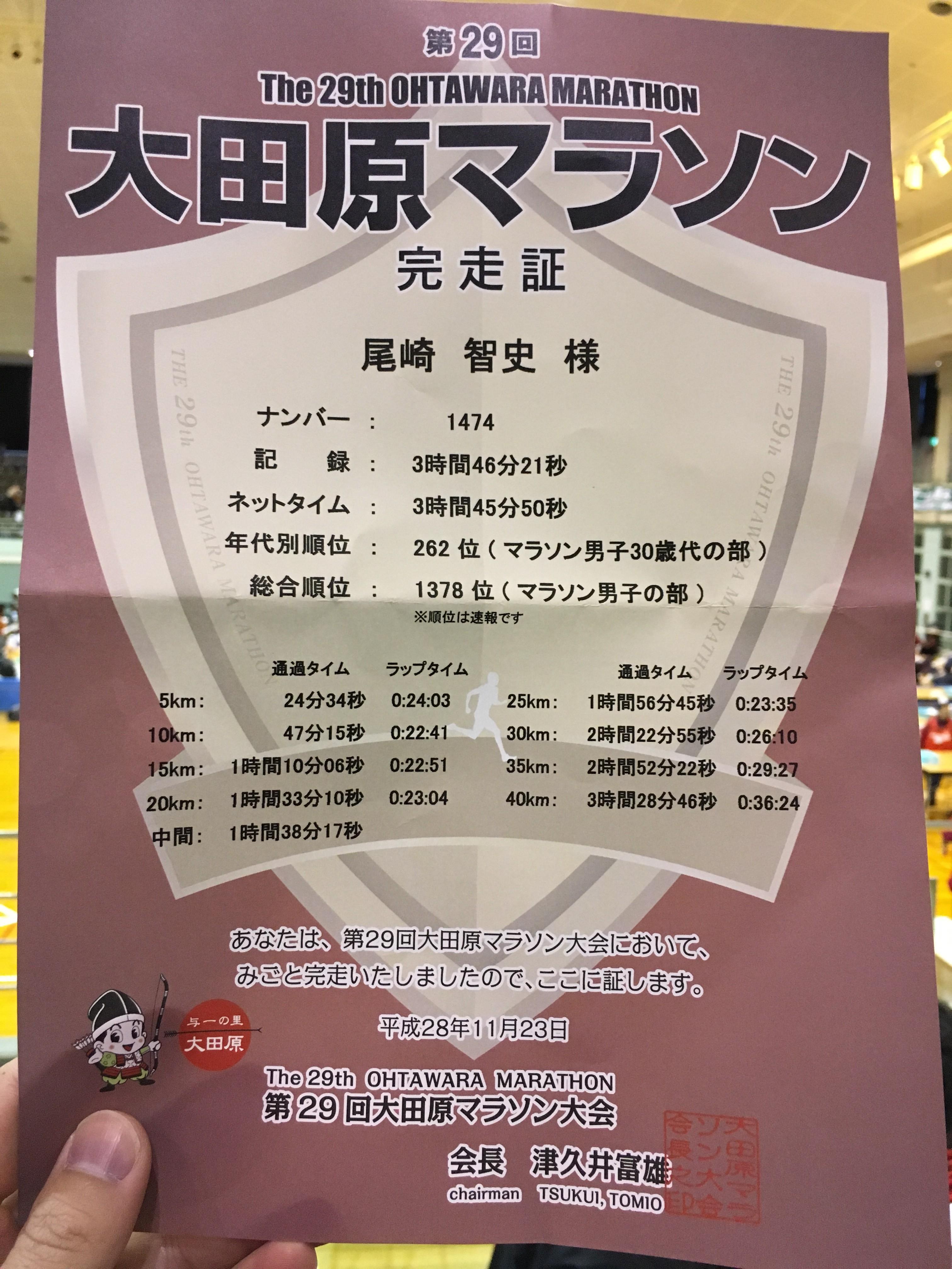 大田原マラソン2016完走記その1